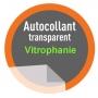 Vitrophanie - Autocollant PVC Transparent