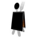 Chevalet ardoise pour restaurant