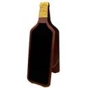 Chevalet ardoise en forme de bouteille