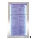 Porte menu, affichage led  6xA4