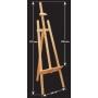 Chevalet bois hauteur réglable