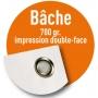 Bâche pvc 700gr/m2 / Recto Verso