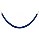 Corde bleu embout couleur Or