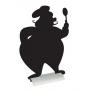 Ardoise silhouette chef