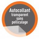 Autocollant PVC Transparent  sans pelliculage