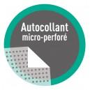 Autocollant PVC Micro - perforée