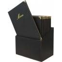 Box + 20 protèges-menus A4 - Noir