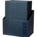 Box avec 20 Protèges-menus A4 - Bleu