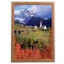 Cadre clic clac couleur bois  - 508x762mm