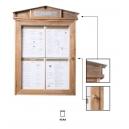 Porte menu extérieur, cadre bois - Eclairage Led
