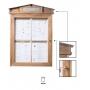 Porte menu extérieur, bois - Eclairage Led