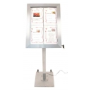 Porte-menu-éclairage led 4xA4