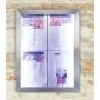 Porte menu extérieur 4xA4 - cadre acier