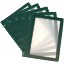 Lot de 5 inserts A4 - Bordure verte