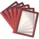 Lot de 5 inserts A4 - Bordeaux