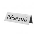 5 chevalets de table marqués : Réservé