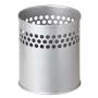 Pot à crayon métallique gris
