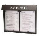 Porte menu extérieur à LED - 2 pages