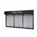 Porte menu extérieur lumineux - 3 pages