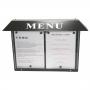 Porte menu extérieur  LED - 2 x A4