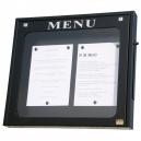 Porte-menus mural à LED - 2 x A4