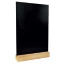 Ardoise de table A4 - Socle bois naturel