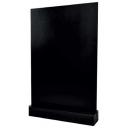 Ardoise de table A6 - Socle bois noir
