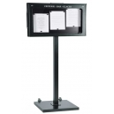 Porte-menus  LED - 3 x A4  - pied central
