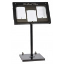 Porte-menus  LED - 3 x A4  - pied incliné