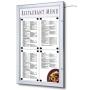 Porte menu extérieur LED  - 4 x A4