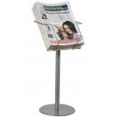 Porte-journaux et magazine tabloid sur pied