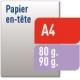 Papier à lettres - Quadri R°V°