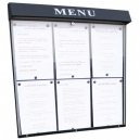 Porte menu lumineux 6 pages A4