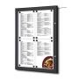 Porte menu murale noir à LED  extérieur 4xA4