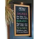 Tableau noir pour menu